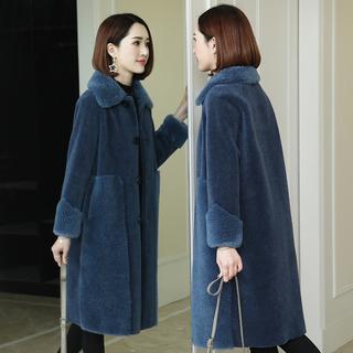 Овец сдвиг пальто женщина 2018 зимнюю одежду нового модель корейский гранула шерсть целая шкура длина шуба пальто, цена 11376 руб
