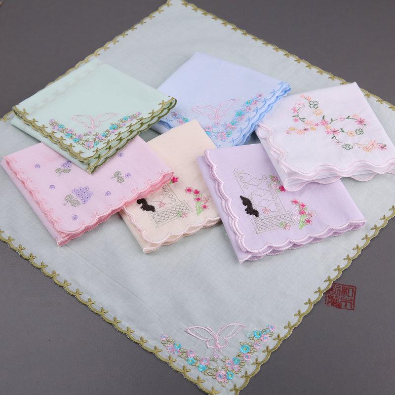 【和木记】(手绢)刺绣锦绣全棉女士手帕擦汗a手绢吸水手帕