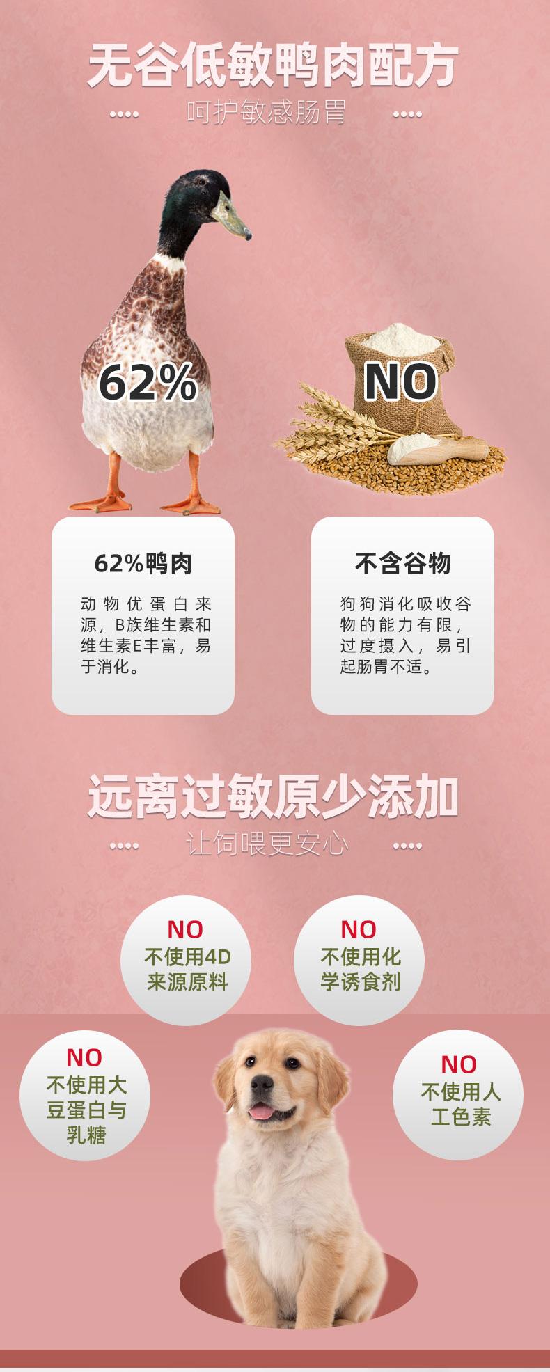 发育宝冻干鸭肉青海苔狗食无谷物添加通用幼犬粮详细照片