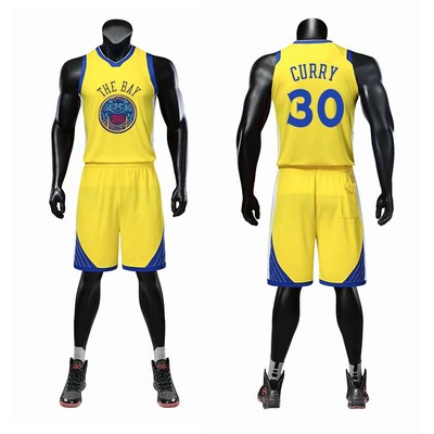 best cheap 71823 f8b58 Custom Golden State Warriors jersey Curry 30 Durant Thompson children's  short-sleeved basketball uniform suit men and women