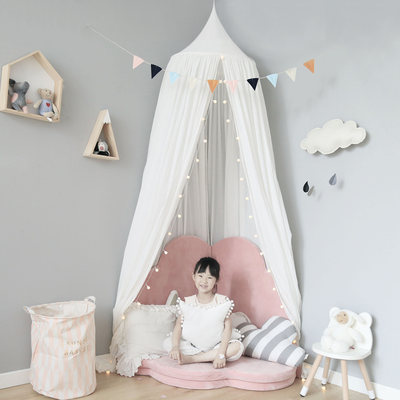 Children's tent ceiling bed curtain indoor princess play house cotton hanging book reading corner Nordic home decoration