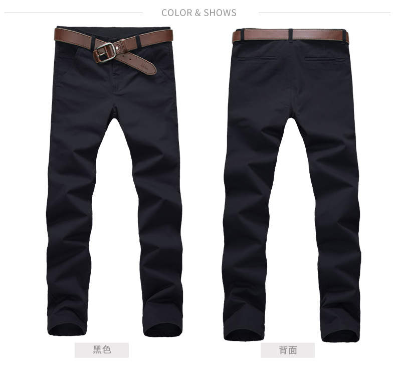 Mùa hè người đàn ông mới của quần âu chân quần nam phần mỏng Hàn Quốc phiên bản của xu hướng mỏng thẳng quần lỏng màu đen