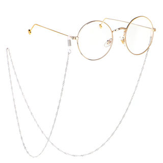 Hot style Fashion simple silver gold new glasses chain non-slip spiral pattern water ripple glasses chain