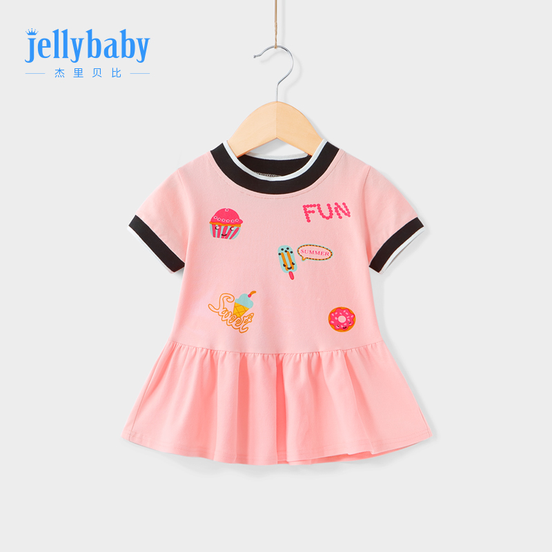 Children's sports skirt summer 2-3 three-year-old baby short-sleeved skirt female baby summer children Princess 6 girls dress