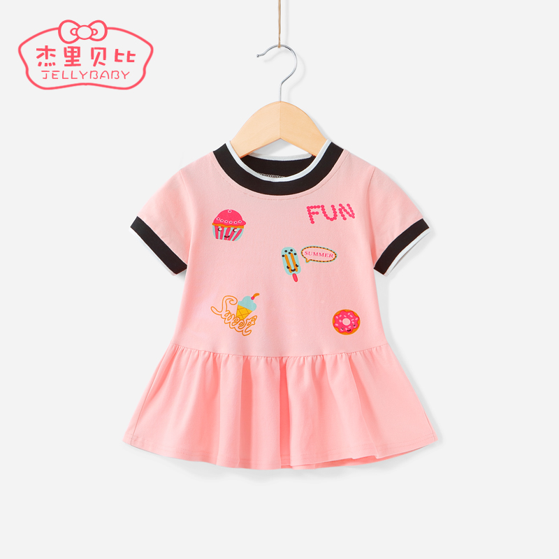 Children's sports skirt summer 2-3 one-year-old female baby summer children's skirt Princess baby short sleeve 6 girls dress