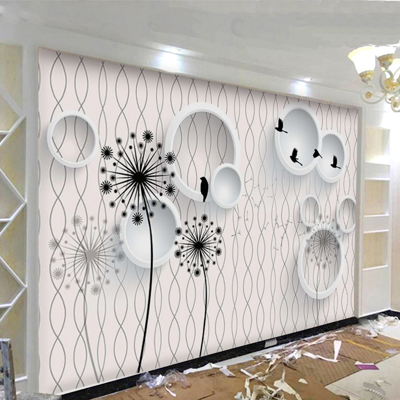 USD 22.05] TV background wall paper 5d stereo back wall decoration ...