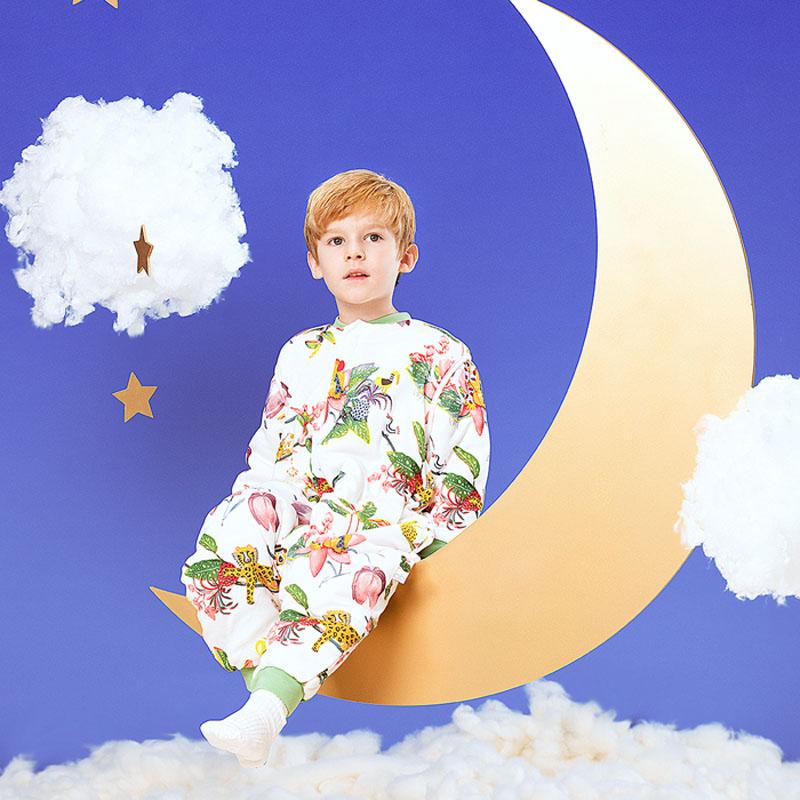 【薇娅推荐】【双11预售】gb好孩子婴儿恒温睡袋秋冬分腿防踢哈衣