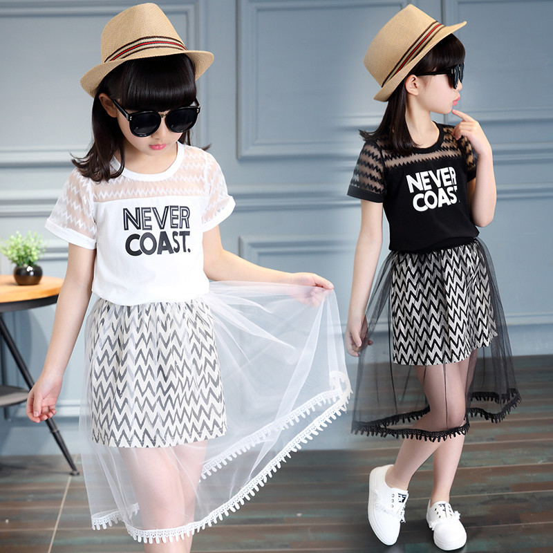 802c7394f Big girl dress 6 Summer 7 girls princess skirt 8 pupils 10 dresses 11  cotton 12-year-old girl summer dress