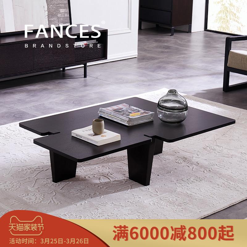 Нордический кофейный столик чай искусство стол современный простота большой небольшой квартира простой стиль смысл стиль 1.2 метр личность черное дерево цвет