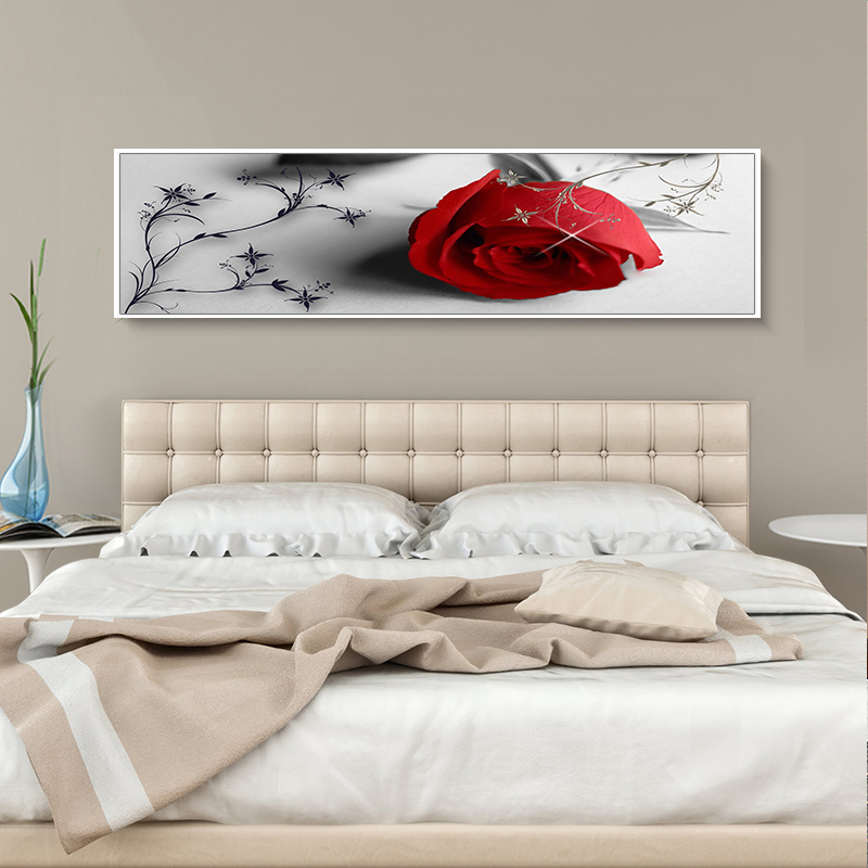 Bedroom wall decoration mural bedside background painting bedroom bedside  decoration painting warm Rose Hotel Hotel paintings