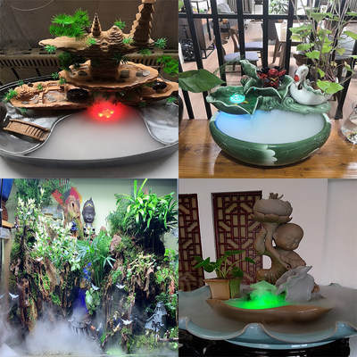 Ultrasonic atomizer, water atomization head, humidification, large fog, bonsai water atomization, colored lights, fog, micro landscape landscaping