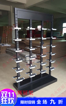 Sports shoes in the island frame display rack shelf shoe cabinet double-sided shoe middle rack dealer