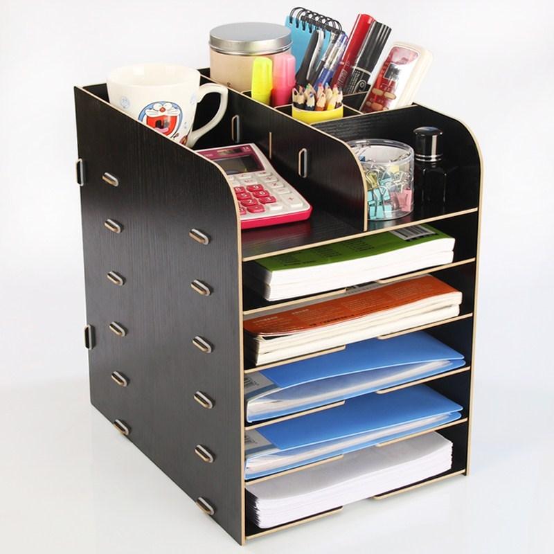架子盒子夹神器分类办公室文件多层收纳抽屉式置物柜箱A4整理桌面