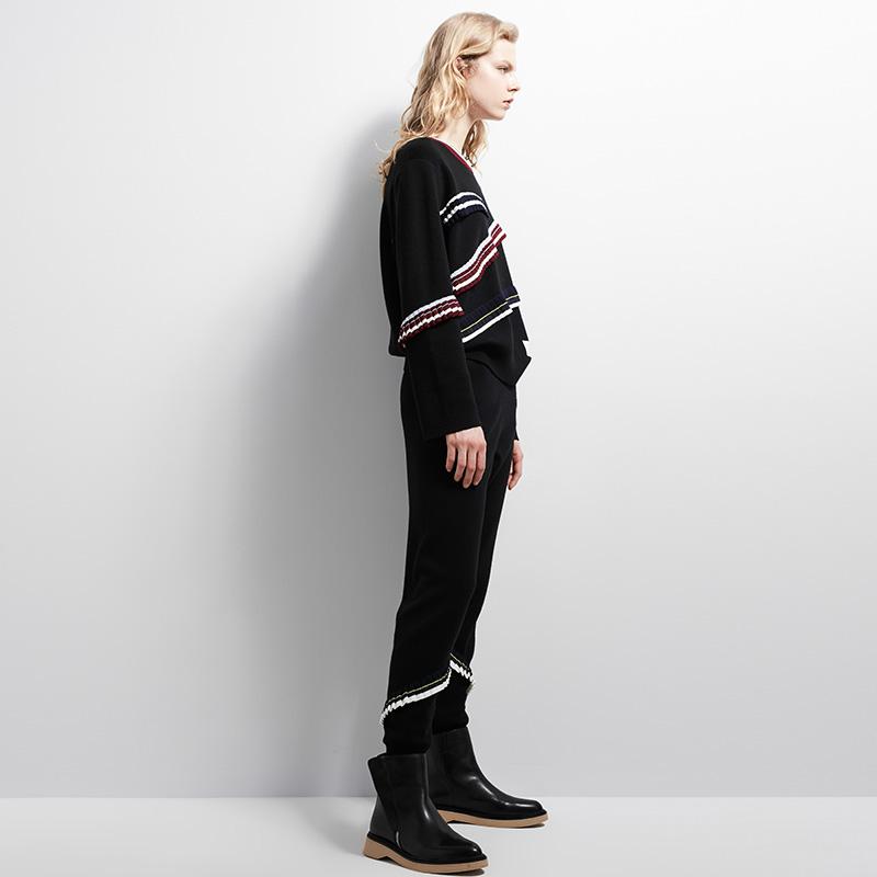 IIIVIVINIKO薇薏蔻新款時尚修身針織長褲C748050608C