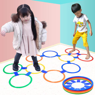 Jumping circle hopscotch kindergarten sports children jumping lattice teaching aids outdoor parent-child toy sense training equipment