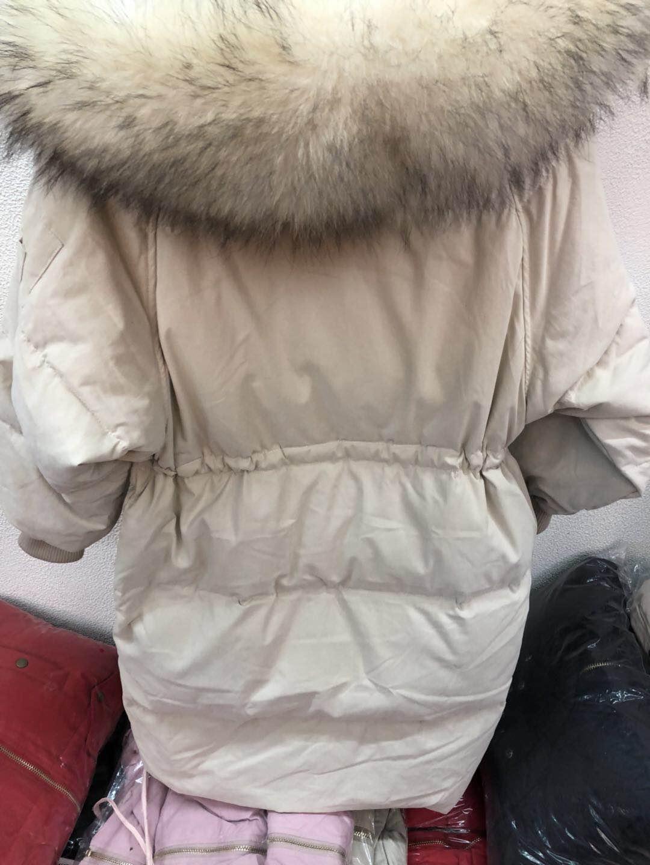 2018 mới chống mùa bán lớn bọ cạp lông cổ áo đào da bên trong dây rút bat tay áo lỏng lẻo dày xuống áo khoác phụ nữ