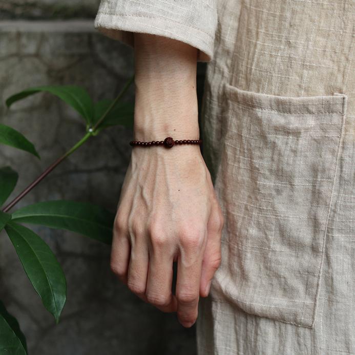 小兔家的手作饰品 紫檀莲花雕刻