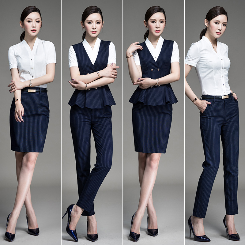 9277d7ee86 Sound Shu ya professional suit spring section 2019 new female fashion  temperament stewardess uniforms ol interview dress overalls