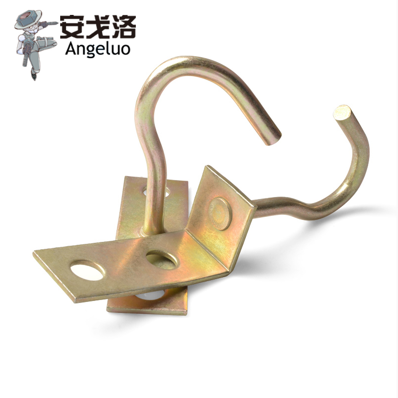Reinforced Ceiling Hooks Fan Wall Iron Hook Rings Light Straight