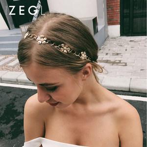 ZENGLIU发带韩国 头饰简约发箍发夹顶夹成人韩版优雅发簪盘发饰品