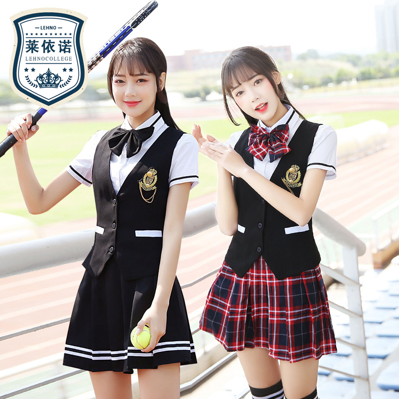 4490d581f Spring/Summer Korean school uniforms Japanese high school students uniform  British College wind Korean version of the student uniforms men and women