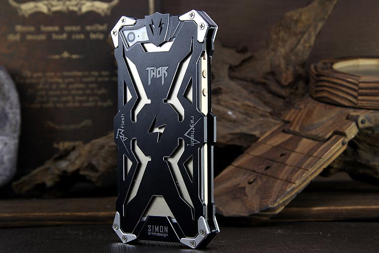 SIMON THOR Aviation Aluminum Alloy Shockproof Armor Metal Case Cover for Apple iPhone 5S/5C/5/SE