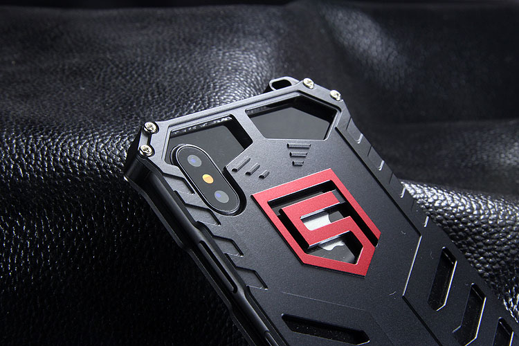 SEISMIK S-ONE Armor Man Shockproof Aluminum Shell Metal Case Cover for Apple iPhone X