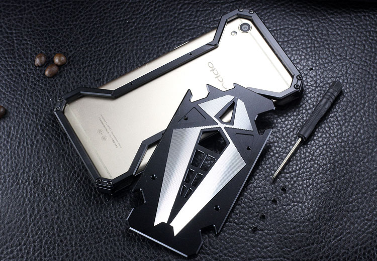 S.CENG Spider-Man Shockproof Aerospace Aluminum Metal Shell Case Cover for OPPO R9 & OPPO R9 Plus
