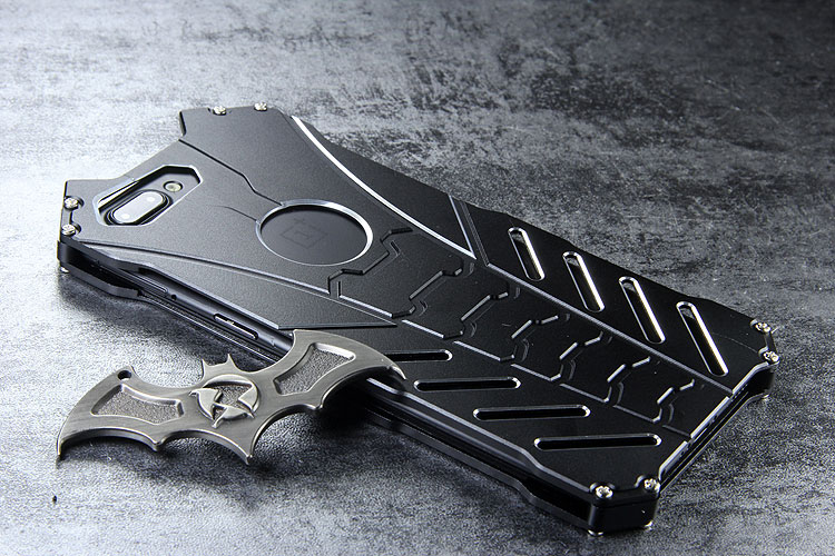 R-Just Batman Shockproof Aluminum Shell Metal Case with Custom Stent for OnePlus 5
