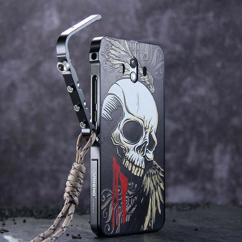 KANENG Mechanical Arm Trigger Aluminum Bumper Metal Frame Case Cover for Huawei Mate 10