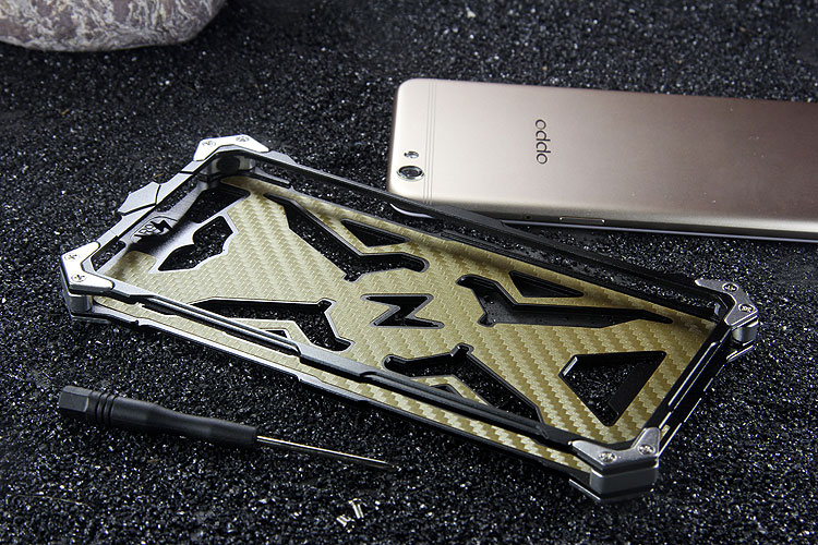 SIMON THOR Aviation Aluminum Alloy Shockproof Armor Metal Case Cover for OPPO R9s & OPPO R9s Plus