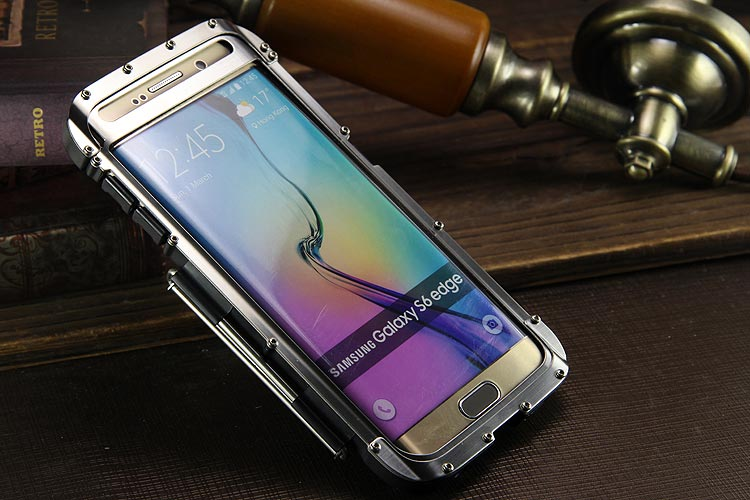 Armor King Iron Man Luxury Shockproof Stainless Steel Aluminum Metal Flip Case Cover for Samsung Galaxy S6 Edge Plus G9280