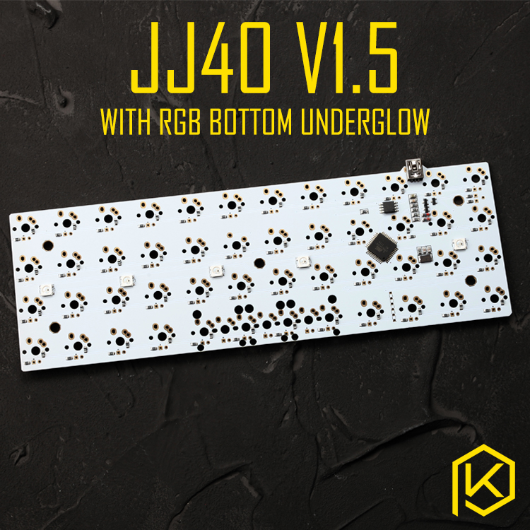 jj40 40%mechanical keyboard customized pcb planck personality diy mx axis  Matrix b Series Firmware