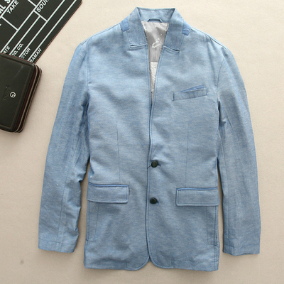 G Series 2017 early autumn men's casual small suit suits men's clothing 75160 light blue ccf DD
