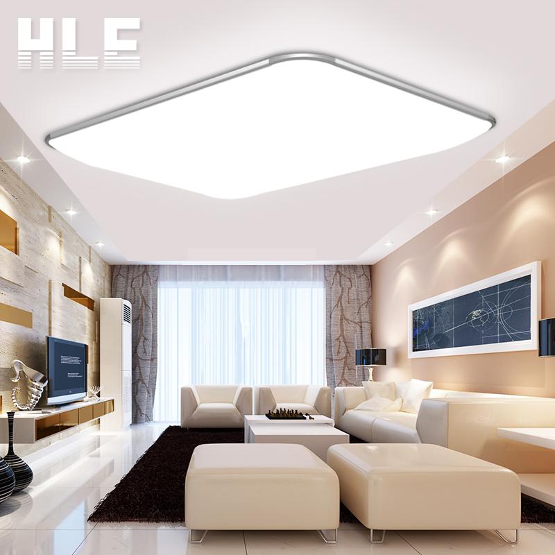 蓝禾照明 LED吸顶灯客厅主卧室房间办公长方形家用装饰灯具
