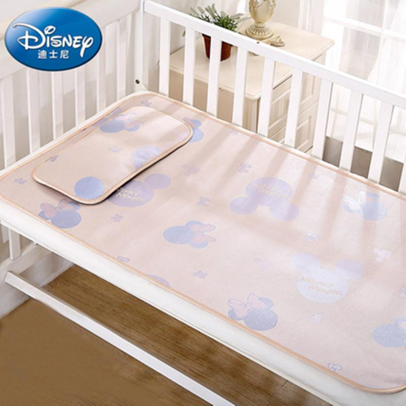 迪士尼婴儿凉席冰丝新生儿宝宝午睡儿童席子夏季空调房婴儿床凉席