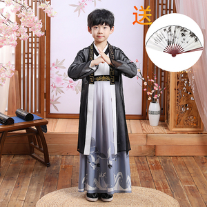 Boy's Hanfu ancient swordsman warrior film performance cosplay costumes for kids