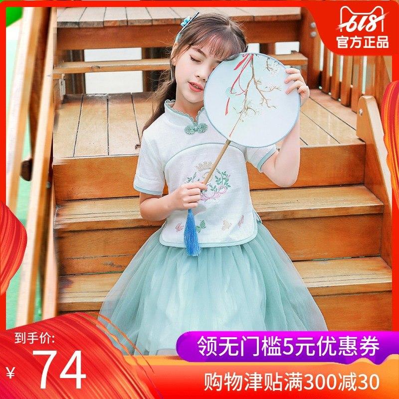 夏装汉服中国风襦裙超宝宝裙子改良唐装仙女新款女童古装套装女孩