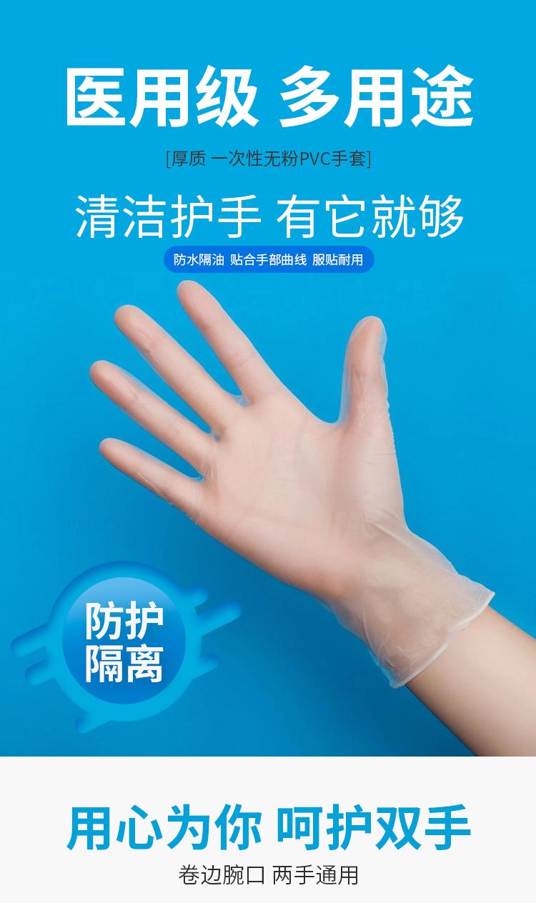现货现发 兰瑾 医用级一次性pvc手套 100只 天猫优惠券折后¥29.8包邮(¥39.8-10)