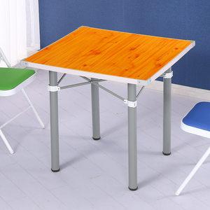 折叠桌子餐桌四方家用可吃饭便携简易麻将桌小户型饭桌棋牌简约型