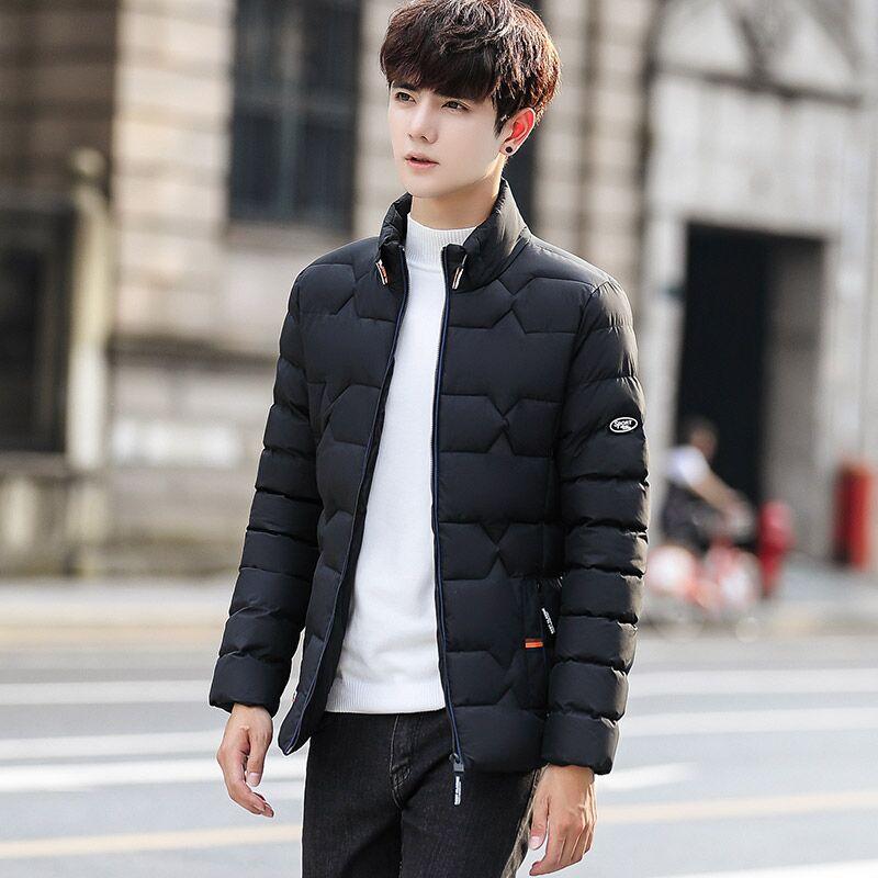 立领棉衣男士外套韩版青年短款棉袄