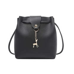 Daily fashion fawn buckets Bucket bag small bag simple casual shoulder Messenger bag small bag