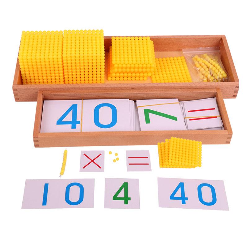 蒙氏数学教具幼儿园早教玩具十进位银行游戏