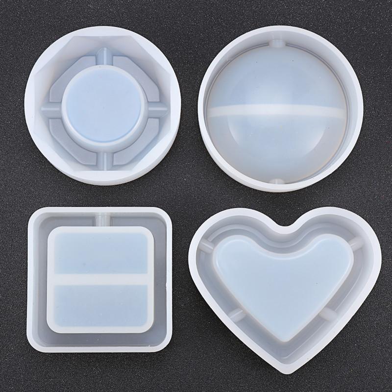 diy手工制作水晶滴胶镜面烟灰缸硅胶模具干花饰品配件材料包