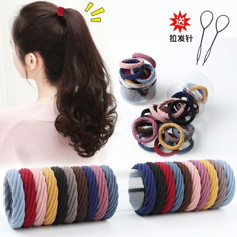 儿童橡皮筋扎头发皮筋女不伤发高弹力耐用小发圈韩国简约女童头绳