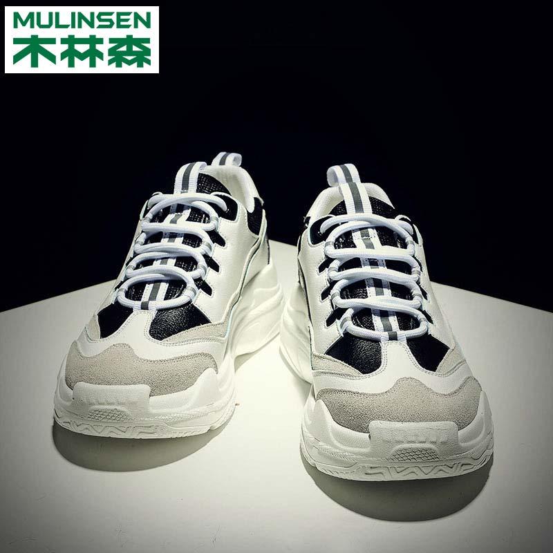 Mu Linsen мужской башмак осень Ins super fire shoes корейская версия модные Спортивная обувь мужской для отдыха увеличить высокая Кроссовки