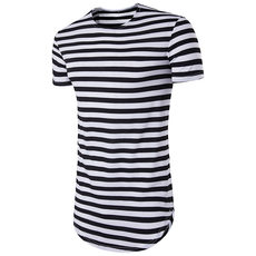 T shirt Men's Cotton Strip Short-Sleeve Hip hop T-shirts