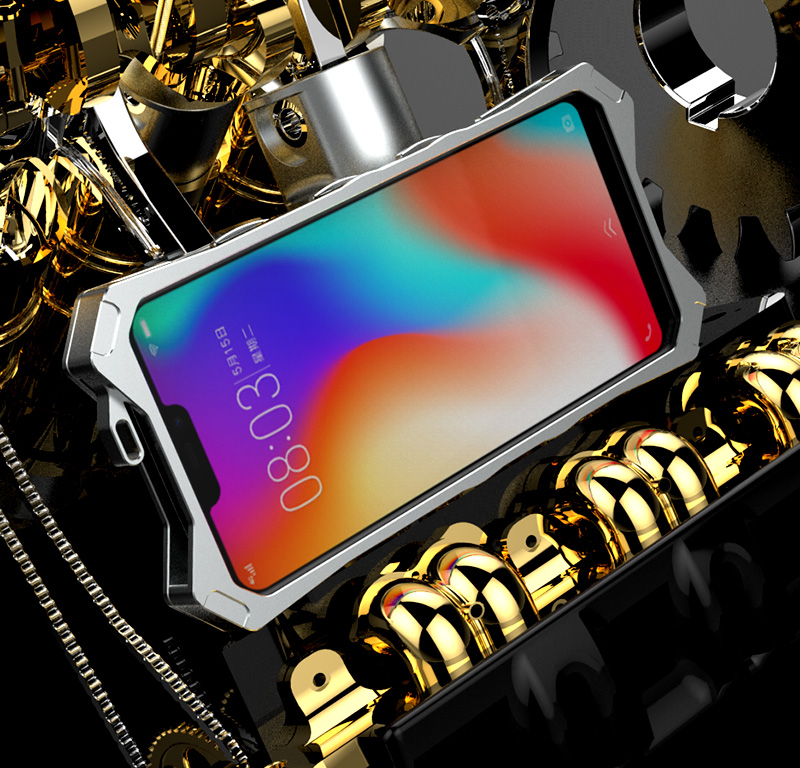 SIMON New THOR II Aviation Aluminum Alloy Shockproof Armor Metal Case Cover for vivo Y83
