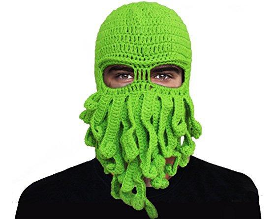 亚马逊ebay速卖通爆款纯手工编织章鱼毛线帽子保暖万圣节派对搞笑