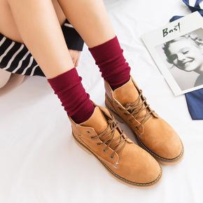 女可爱粗线复古【堆堆袜4双+船袜2双】